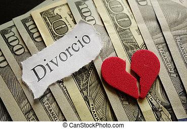 corazón, y, divorcio