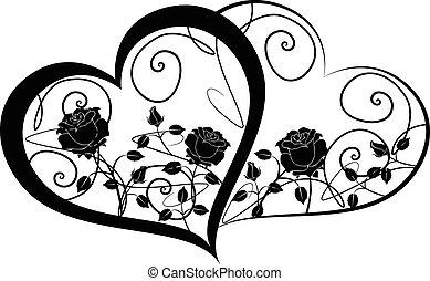 corazones, 2, dos