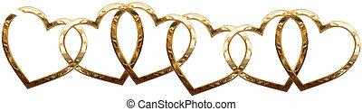 corazones, cadena