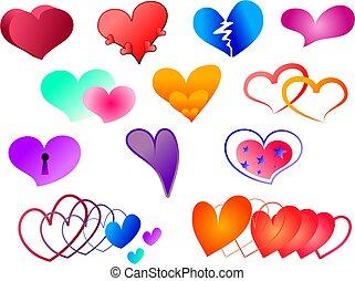corazones, colección