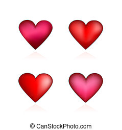 corazones, conjunto, valentines