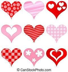 corazones, conjunto