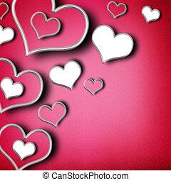 corazones, día de valentines, plano de fondo