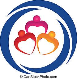 corazones, figuras, logotipo