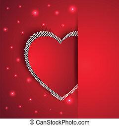 corazones, forma, romántico, tarjeta de felicitación