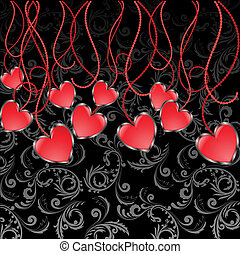corazones, guirnalda