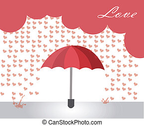 corazones, lluvia