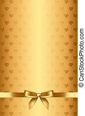 corazones, plano de fondo, arco oro