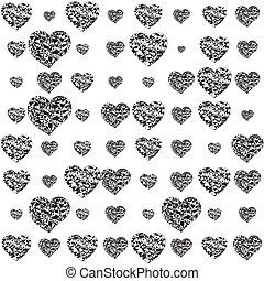 corazones, romántico, diseño