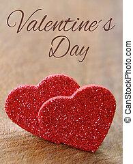 corazones, valentines, dos día