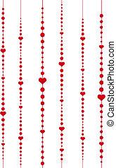 corazones, y, puntos