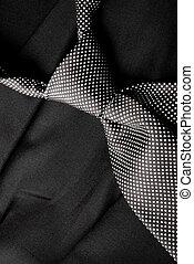 corbata, blanco, negro