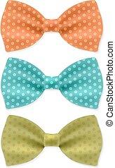 corbata, conjunto, arco