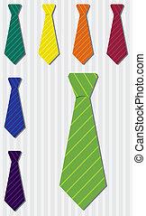 corbata, conjunto