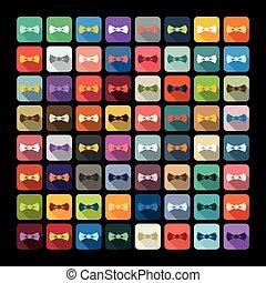 corbata, design:, arco, plano