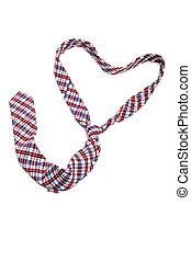 corbata, formado, corazón