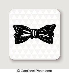 corbata, garabato, arco
