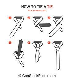corbata, instrucciones, cómo