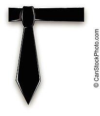 corbata, negro
