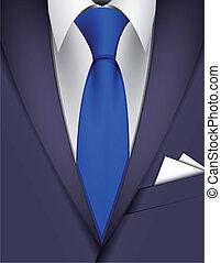 corbata, traje