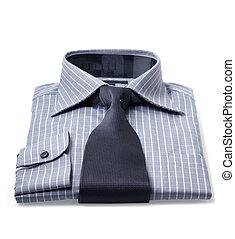 corbata, y, camisa, nuevo