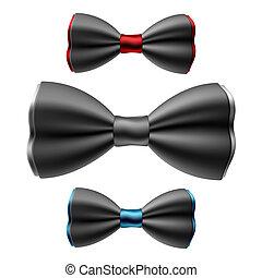 corbatas, conjunto, arco