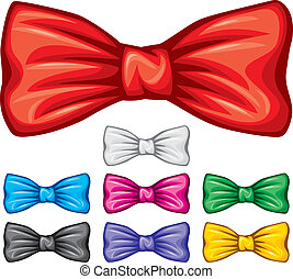 corbatas de moño, colección, (bow, corbata, set)