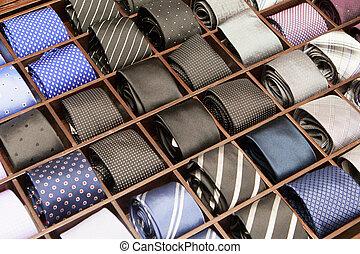 corbatas, en la exhibición