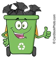 Poubelle recycler caract re ic ne poubelle recycler caract re dessin anim ic ne - Dessin de poubelle ...