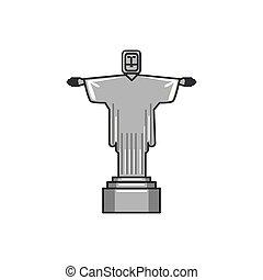 corcovado, cristo, monumento, icono