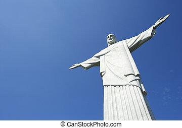 Corcovado Rio Horizontal Blue Sky