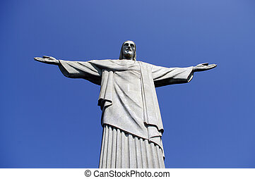 corcovado on a blue sky