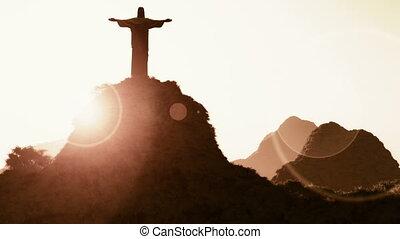 Corcovado Sunset 2 - Corcovado Mountain Cristo Redentor...