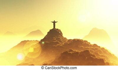Corcovado Sunset 3 - Corcovado Mountain Cristo Redentor...