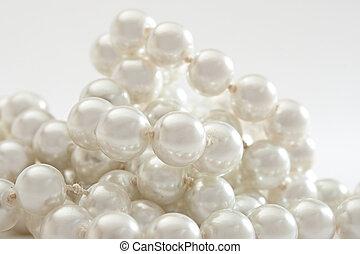 cordão de pérolas, branco