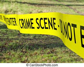 cordón, escena, crimen