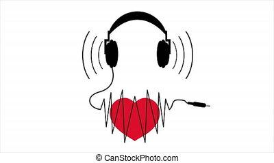 cord heart headphones - Cord heart headphones, art video ...