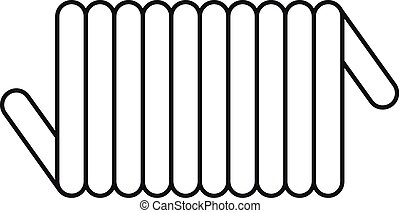 Cord spring coil icon, outline style