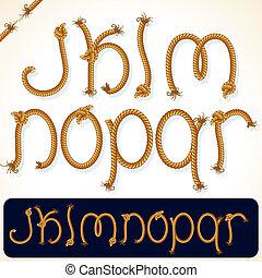 corda, alfabeto, 2