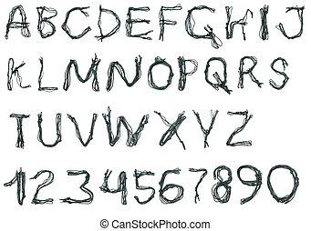 corda, alfabeto