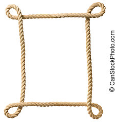 corda, cornice, isolato, bianco