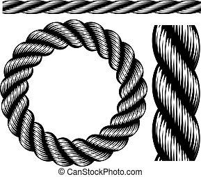 corda, elementi, disegno