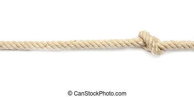 corda, fundo branco