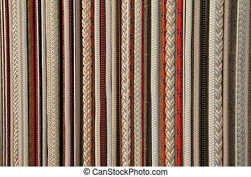 corda, fundo, coloridos