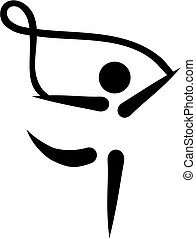 corda, ginnastica, icona