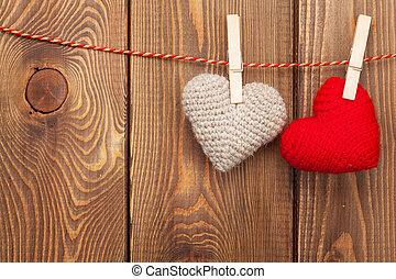 corda,  handmaded, brinquedo, corações,  valentines