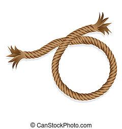 corda, isolato, intrecciato