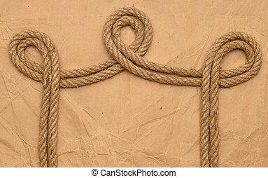 corda, ligado, antigas, papel
