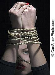 corda, mãos