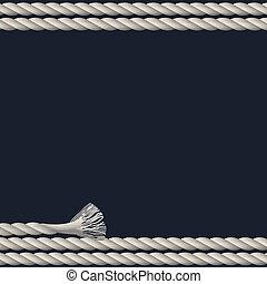 corda, marino, fondo